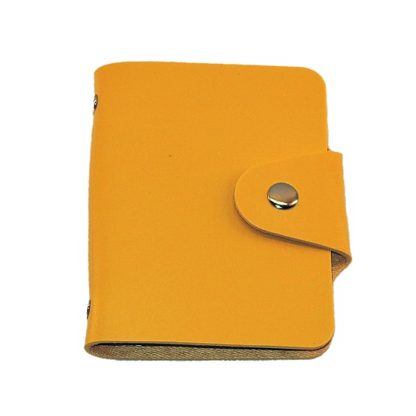 Kortholder i kunstlæder - 24 kortholder - Gul Yellow