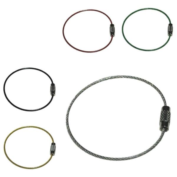 Nøglering i ståltråd - 50 mm diameter -2 mm tykkelse - Blå Blue Blå