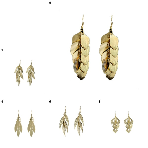 Hængende øreringe - Guldblad [M8] M8