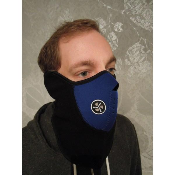 Blå cykelmaske - Skimaske - Ansigtsmaske - Motorcykelmaske - Ninja maske Blue one size