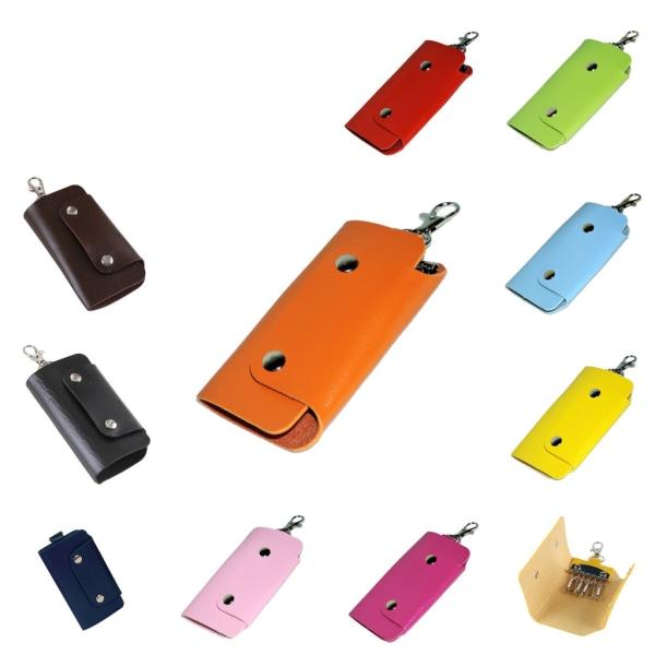 Læder nøgleholder - Pink [v2] Pink Rosa