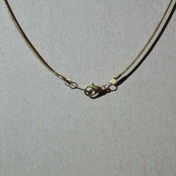 Halskæde - Guld - 43 cm længde - 1 mm tykkelse