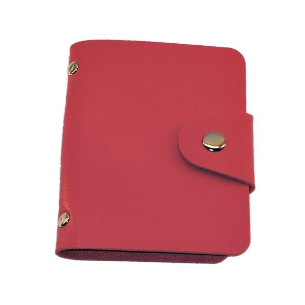 Kortholder i kunstlæder - 24 kortholder - Rose rød Dark pink