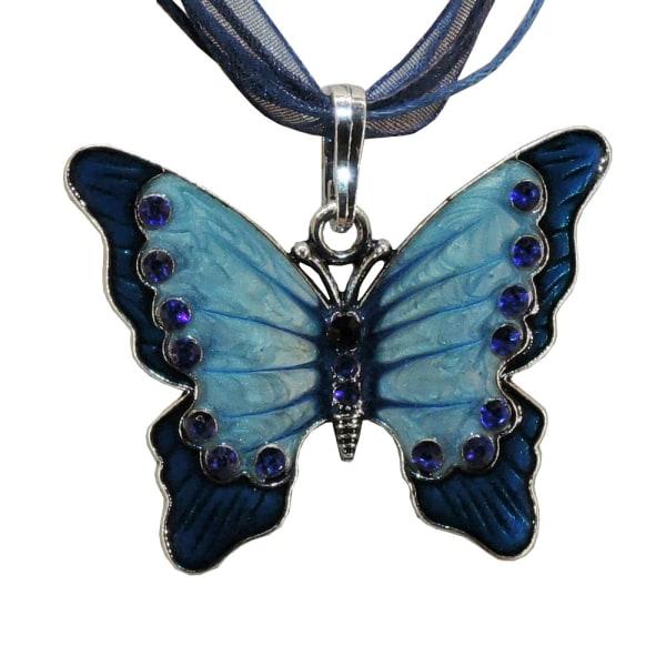 Kaulakoru - Sininen perhonen - Vaihtoehto 3, 42 cm kaulakoru Blue
