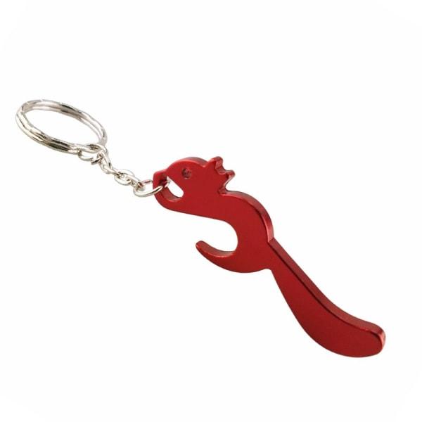 Avaimenperä - Pullonavaaja - Orava - Punainen Red Röd