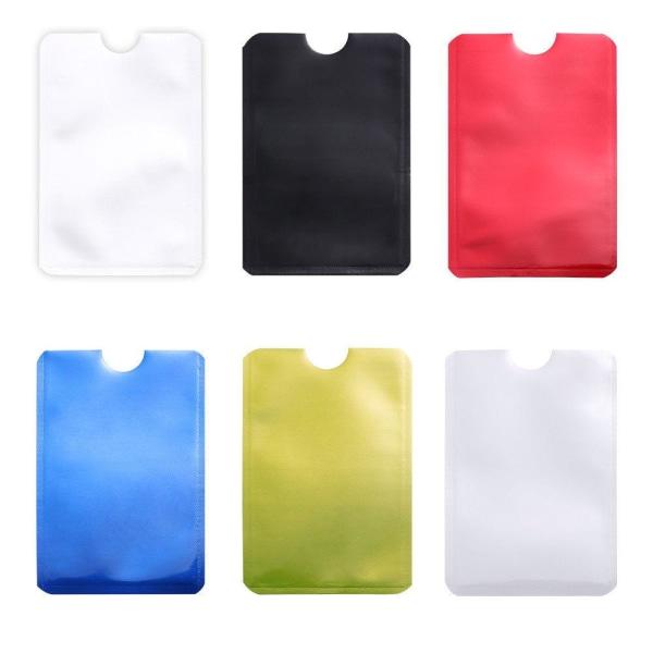 RFID -suoja - Kaksoispakkaus - Korttikotelo - Korttikotelo Silver Silver