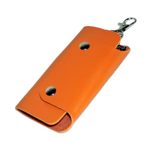 Læder nøgleholder - Orange [v2] Orange Orange