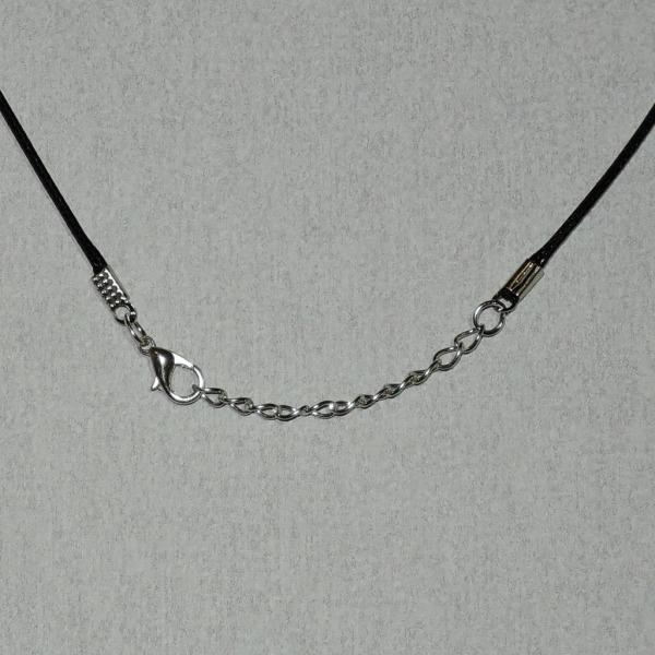 Halskæde - Sort syntetisk - 48 cm længde - 1,5 mm tykkelse