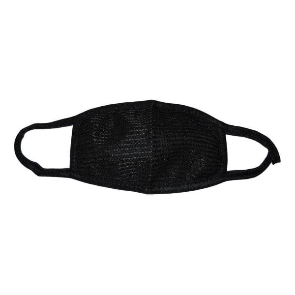 Kasvomaski - musta - kaksinkertainen pakkaus Black one size