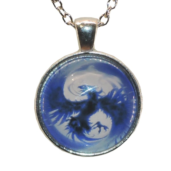 Kaulakoru lasia, motiivi [K04] Fenix Silver Silver Blå