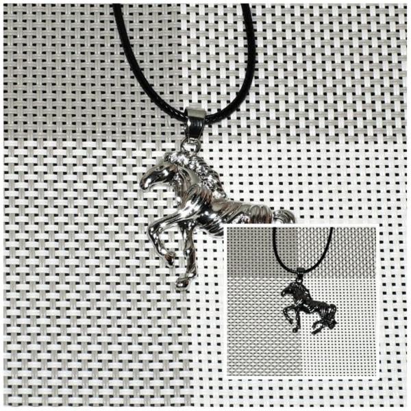 Halskæde - Hest med 42 cm halskæde - Variant 2 Black