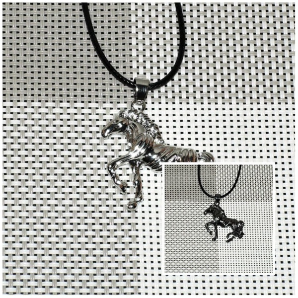 Kaulakoru - Hevonen 42 cm kaulakorulla - Vaihtoehto 2 Black