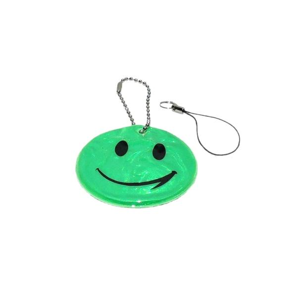 Refleks - Smiley - Grøn Green Grön