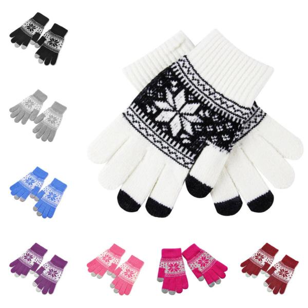 Smartphone handsker, Snowflake - Touch Glove Svart