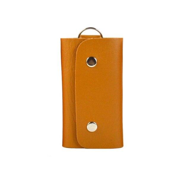 Læder nøgleholder - Khaki [v1] Khaki Khaki