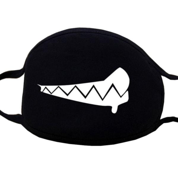 Kasvonaamio - musta - raivotauti - naamio Black one size