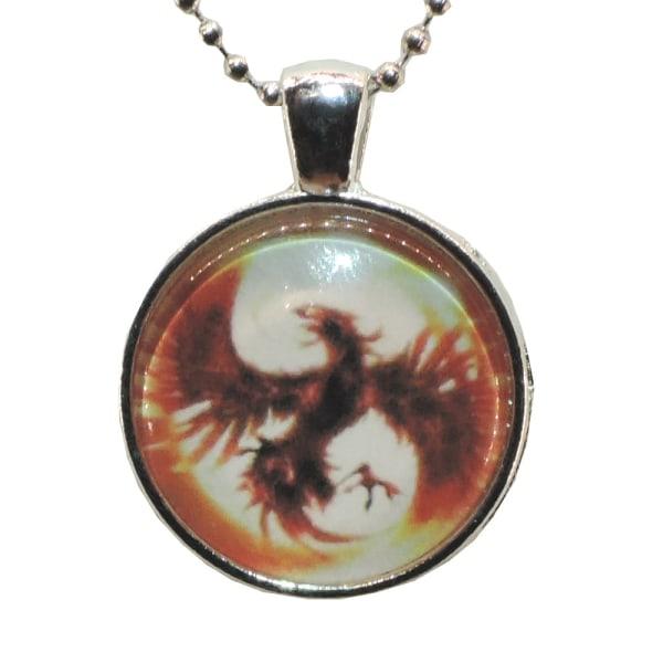 Kaulakoru lasia, motiivi [K04] Fenix [Hopea] Punainen Silver Silver Röd