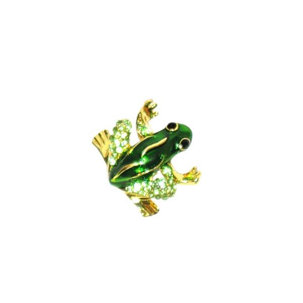 Brosch - Grön groda Green