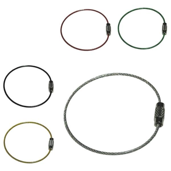 Nøglering i ståltråd - Gul - 50 mm diameter - 1,5 mm tykkelse Yellow Gul