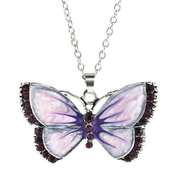 Kaulakoru - Violetti perhonen - Vaihtoehto 1, 50 cm kaulakoru Purple