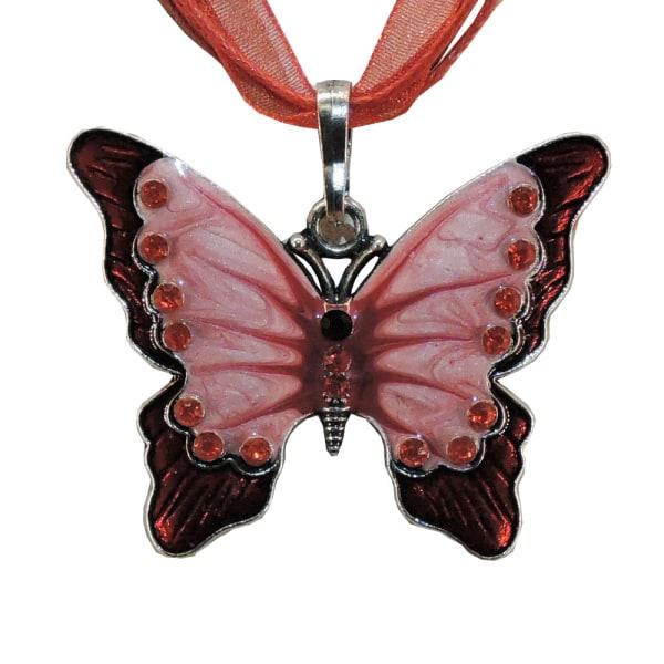 Kaulakoru - Perhonen - Vaihtoehto 3, 42 cm kaulakoru Red