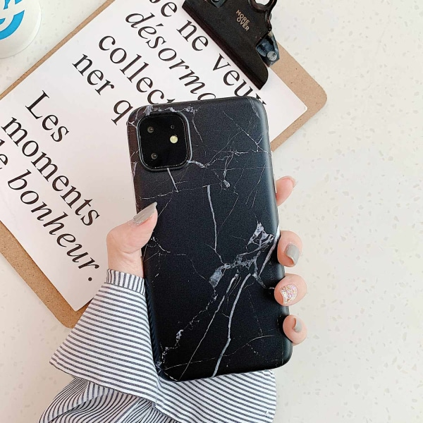 iPhone 11 skal marmor Svart