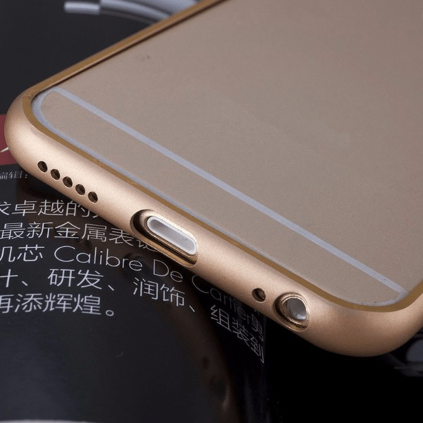 Super slank kofanger i aluminium - iPhone 6/6s plus Grey