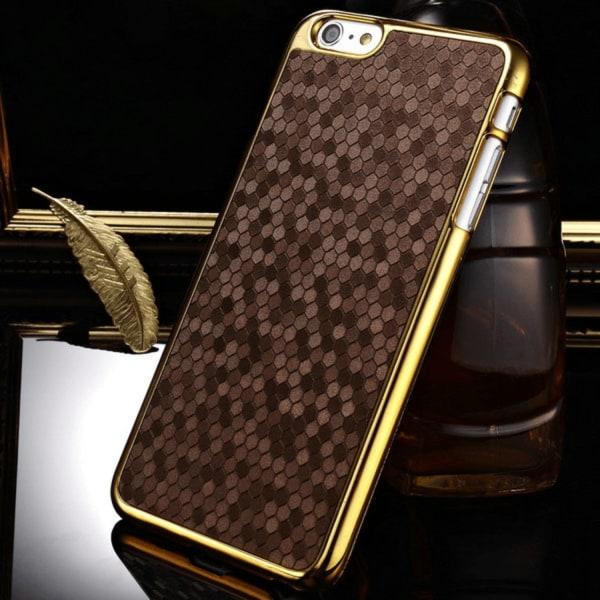 iPhone 6/6s | Hårt Mobilskal med Guldkant  Brun