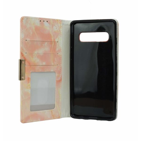 Samsung Galaxy S10   Plånboksfodral med Rosé Marmor Rosa