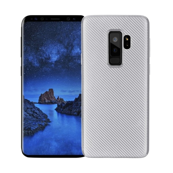 Samsung Galaxy S9 +   Mjukt Mobilskal Silver