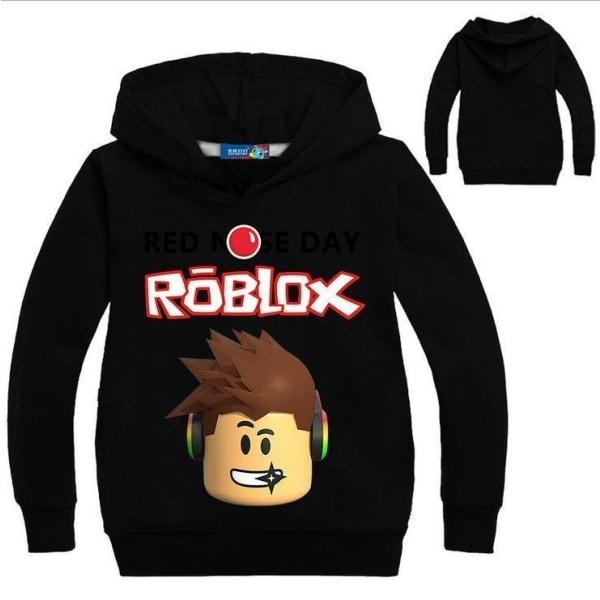 Roblox Hoodie / huvtröja Röd 140