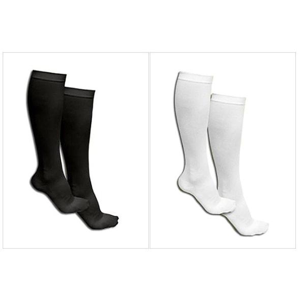 4-pakkaus tukisukat musta tai valkoinen White 4-pack vit stl 37-41