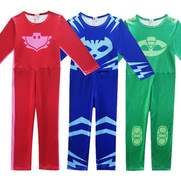 PJ Masks / Pyjamashjältarna - hel dress+ ögonmask PJ Masks - Storlek: blå 110 cl
