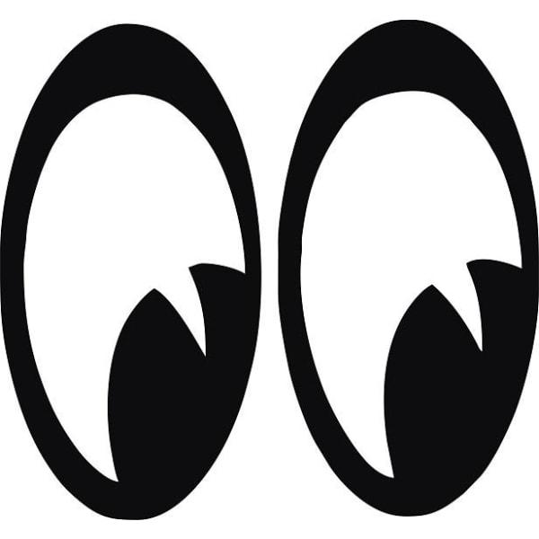 Bil dekor - ögon svart