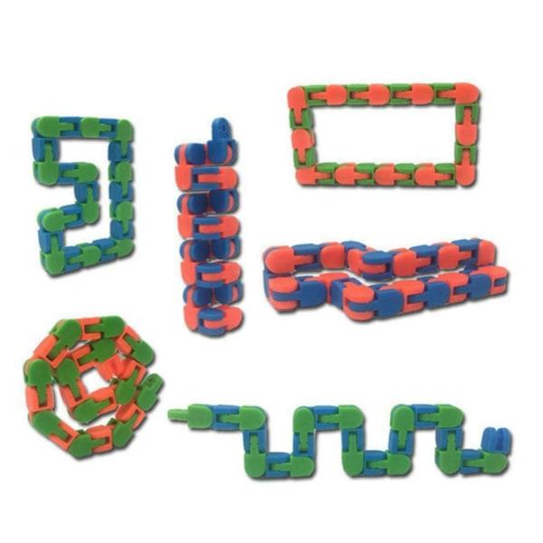1 * Sensory Fidget Toy Wacky Track Snap & Click Toy Stress Relief