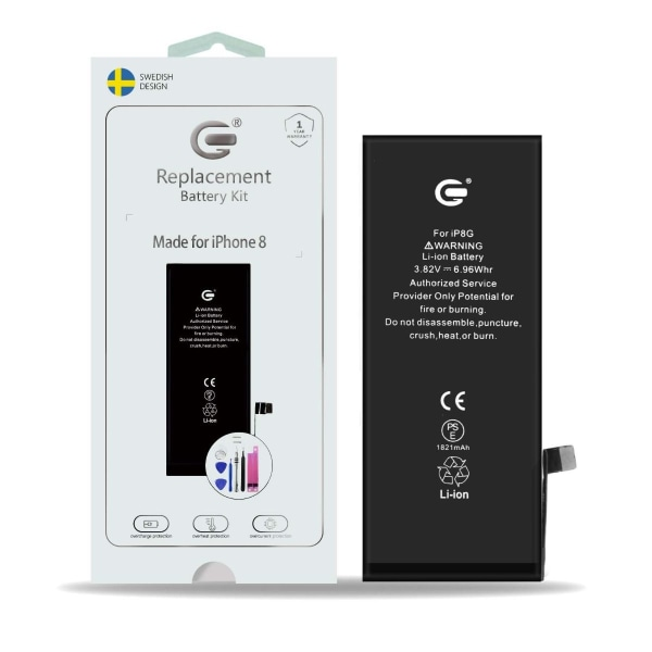 iPhone 8 Batterikit Komplett - Högsta kvalitet
