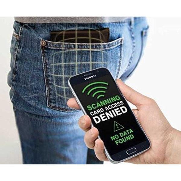 Korthållare med RFID - skjuter Fram 5 kort - RFID säker Svart Svart