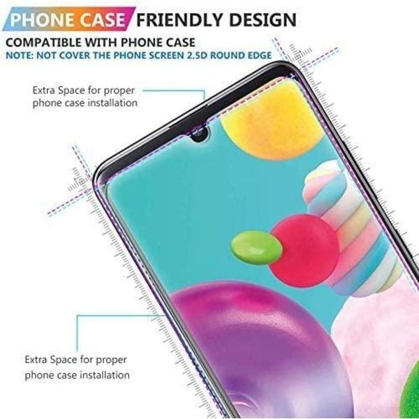 2 Pack Samsung Galaxy A41 Härdat glas 3D Skärmskydd HD  Transparent
