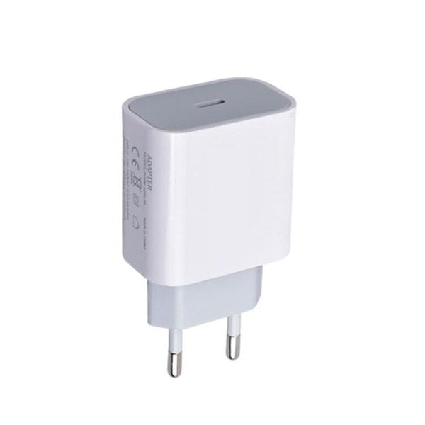 iPhone laddare för Apple 11/12 USB-C strömadapter PD Vit Vit