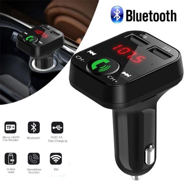 FM-sändare X10 med Bluetooth Handsfree 4 i 1 Svart Svart