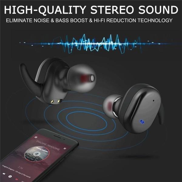 Y30 TWS hörlurar för iOS & Android med Bluetooth 5.0 Svart