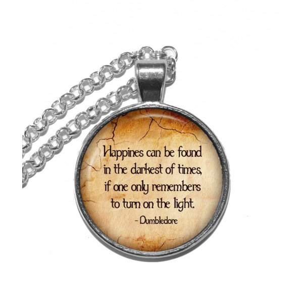 Halsband Harry Potter Dumbledore Citat Quote Fången från Azkaban Silver