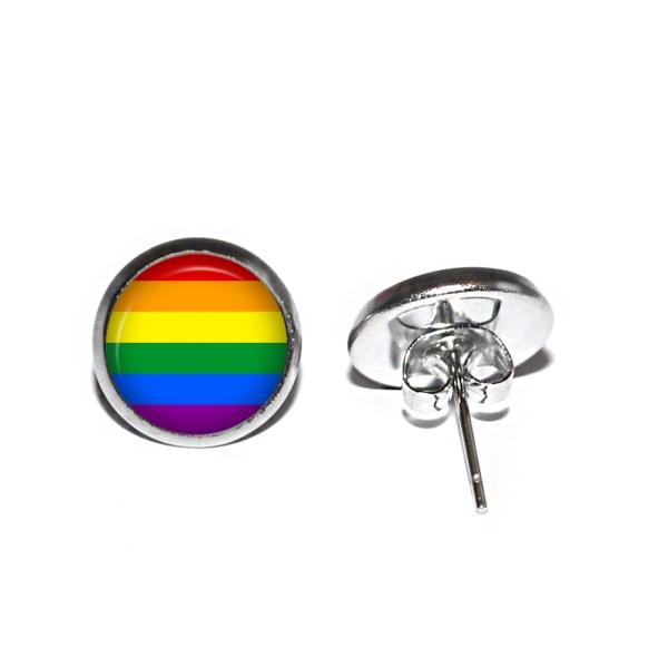 Örhängen Rostfritt Stift Studs Pride Flagga Regnbågsflagga HBTQ