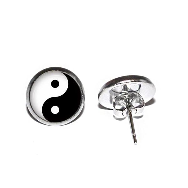 Örhängen Rostfritt Taijitu Yin & Yang Universum Urkraft Filosofi