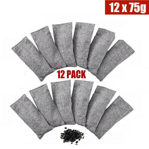 12Pack Bamboo Charcoal Nature Fresh Air Purifier Natural Shoes 12pcs-set