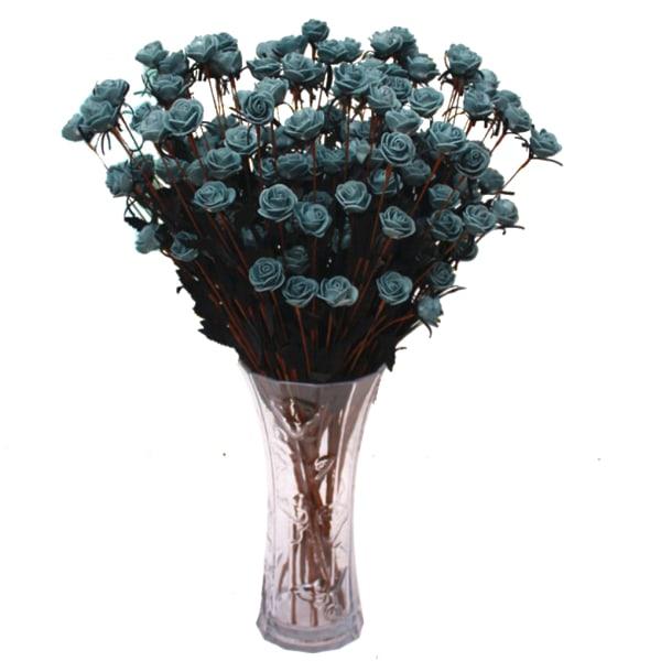 15 huvuden artificiell falsk ros hem kontor dekoration landstil Gul