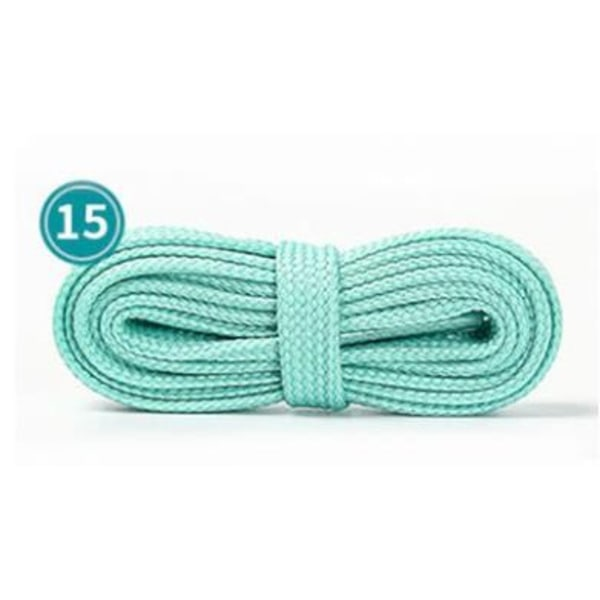 2 par unisex i dubbla lager ihåliga elastiska platta skosnören Ljusblå1