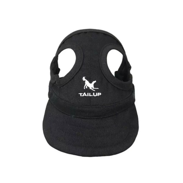 Canvas Dog Pet Visor Hat Cap Sun Protector Bensin Blå Rosa Svart Bensinblå Medium