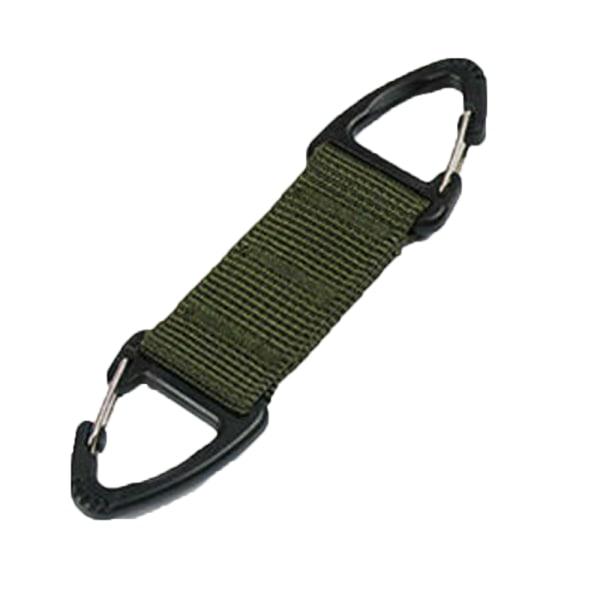 Lås hängande kedja Clamber Carabiner Key Webbing Belt Clip Out Armégrön