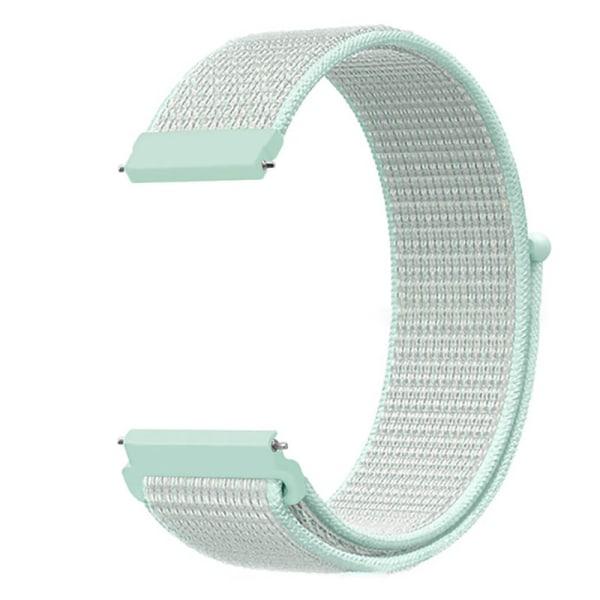 Fitbit Versa 2 Lite nylonrem Sports Woven Loop Watch Wristba Fluorescerande grön 1 ST